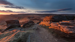Grindslow Knoll Sunset (Paul Newcombe) Tags: su