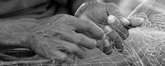Never Ending Toil B&W (blueyshutta) Tags: fisherman nikon repair malaysia kotabharu dailygrind bsp fishingnet toil kelanatan nikond750 nikon200500mmf56 sabakfishingvillage