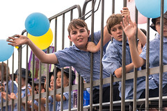 Kids - hanging out - Jacaranda Parade 2015 (sbyrnedotcom) Tags: 2015 people events grafton jacaranda parade rural town nsw australia