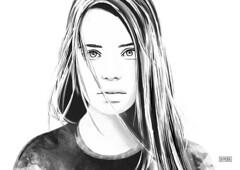 Digital Portrait Sketch by DEMORIE (inspiration_de) Tags: portrait inspiration abstract art girl illustration watercolor hair sketch artwork eyes mood emotion digitalart sketching surreal wishes