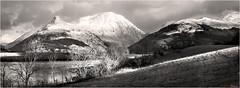 The Shaft of Light BW (The Terry Eve Archive) Tags: glencoe papofglencoe snow mountain hill loch lochleven ballachulish scotland westcoast blackwhite bw