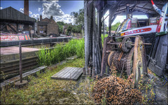 Black Country Canal Dock (Darwinsgift) Tags: black country living museum dudley birmingham canal dock boat hdr photomatix nikkor 20mm f18 g nikon d810