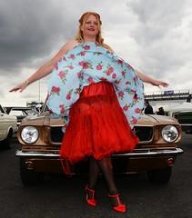 Ange L'Que_8832 (Fast an' Bulbous) Tags: classic american car vehicle automobile oldtimer girl woman hot sexy chick babe mature milf nikon d7100 gimp santa pod england nylons stockings high heels stilettos