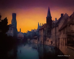 Digital Oil Painting of the Belfry of Bruges Seen from a Canal by Charles W. Bailey, Jr. (Charles W. Bailey, Jr., Digital Artist) Tags: belfryofbruges bruges canal westflanders belgium europe photoshop photomanipulation topaz topazlabs topazdejpeg topazdenoise topazrestyle topazclarity topazlenseffects topazclean topazimpression topazadjust alienskin alienskinsoftware alienskinexposurex snapart4 oilpainting painting art fineart visualarts digitalart digitalartist charleswbaileyjr