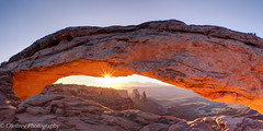 Sunrise at Mesa Arch (OJeffrey Photography) Tags: mesaarch arch canyonlandsnationalpark nationalpark cnp sunrise starburst golden washingwoman silhouette pano panorama ojeffrey ojeffreyphotography jeffowens nikon d800
