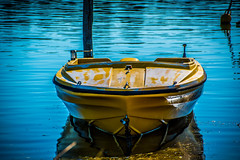 Yellow boat waiting... (Merrillie) Tags: woywoy waterfront nature australia d5500 nswcentralcoast newsouthwales nsw colours centralcoastnsw colors waterscape photography water outdoors boat centralcoast yellow nikon bay