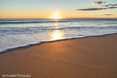 Sunrise (darrinwalden Photography) Tags: australia sony a7 prime sand water sun sunrise warmth ocean waves foam