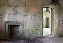 Bodmin jail derelict cells 03 aug 16 (Shaun the grime lover) Tags: cornwall bodmin derelict jail prison gaol wing cell fireplace hearth building doorway