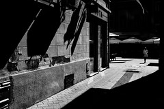 tribute to de chirico (Zlatko Vickovic) Tags: streetphotography street blackandwhite surreal monochrome zlatkovickovicphotography zlatkovickovic de chirico streetphotographybw streetbw streetstreetphoto vojvodina serbia srbija novisad noir black lightandshadow shadow