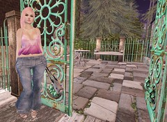 Post #1745 ( =^^=) Tags: secondlife sashakitteh wildrose fashion blog pink black pinkatude jeans top diamonds ombre jewelerygold bracelets necklace mesh ears piering delicate feminine dainty shoes mouse purse bag tattoo white