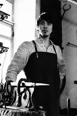 125640_18032014_MG_3338 (kamandre) Tags: blackandwhite blacksmith bw canon100d canonef2470mmf28lusm canonef2470mmf28l canoneos100d eosrebelsl1 eoskissx7 handsomeman house kamandre moscow museum museumworker portrait rawphotoprocessor rpp russia russian shadow smoke