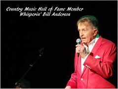 Bill Anderson Concert at Ohnward Fine Arts Center (Kurt Ockelmann) Tags: billanderson whisperinbillanderson whisperingbillanderson ohnwardfineartscenter maquoketa iowa country music hall fame membr halloffamebillanderson