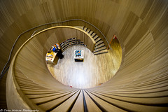 (Claire Hutton) Tags: canadawater surreyquays library london city architecture round circle circular stairs staircase wood wooden modern spiral wideangle sonya6000
