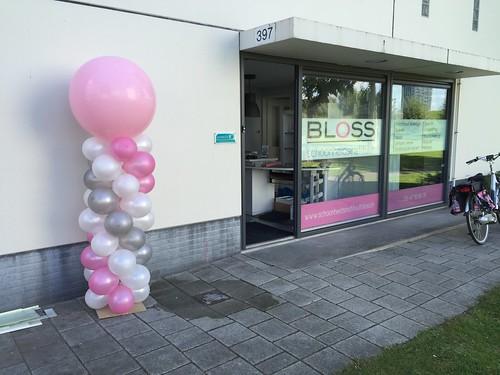 Ballonpilaar Breed Rond Schoonheidsinstituut Bloss Hoogvliet Rotterdam