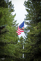 Flying Red, White and Blue (Marisa Sanders Photography) Tags: tetons grandtetons thegrandtetons nps np gtnp grandtetonnationalpark america flag americanflag canon canon7d explore outdoors outside gtfoutside gtfoutdoors landscape photography