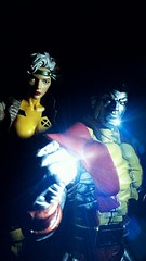 Rogue & Colossus (custombase) Tags: marvellegends xmen rogue select colossus