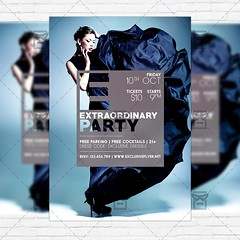Extraordinary Night  Premium Flyer Template + Instagram Size Flyer (ExclusiveFlyer) Tags: exclusive girl glamour glitter golden invitation light modern music night nightclub party passion sexy