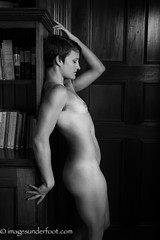 Against the Wall (MacroGreg) Tags: monochrome nude