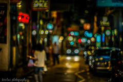 blue blurry night... (~kenlwc (time to rethink, will catch up slowly....) Tags: night hongkong 75mm summilux75mm leica street color blur woman lady car central kenlwc kenleung m9p