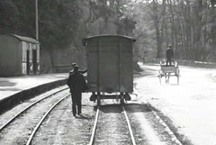 Carrigrohane station. 1902 (abandoned railways) Tags: travel ireland history abandoned archaeology station wagon loop cork platform railway steam historical disused cart coaches wagons muskerrytram cmlr