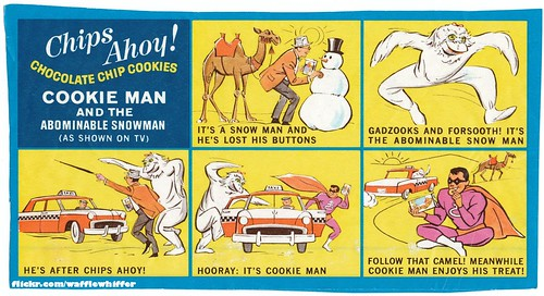 Chips Ahoy Cookie Man Vs Abominable Snowman 1960s A Photo On