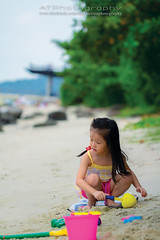 A day at the beach (Alphone Tea) Tags: life travel family pink blue light sunset shadow sea wild portrait people favorite woman white playing black color cute green art beach wet water beautiful smile grass childhood stone closeup kids composition contrast pose print children fun toys happy photography daylight photo amazing model sand singapore asia pretty dress bright little sweet bokeh modeling outdoor great models chinese perspective young longhair mother adorable parent punggol barefoot lovely staring naturalight 2012 100l 60d