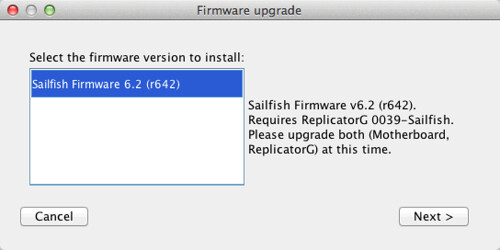 Sailfish Firmware - Installation Guide - MakerBot Industries