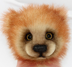 bear red glass fur foxy eyes bears peach short fox handpainted faux christie peddler upcoming the kotz