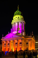 Berlin Festival of Lights 2012: Franzsischer Dom (Lens Daemmi) Tags: berlin festival germany lights festivaloflights 2012 gendarmenmarkt fol