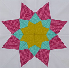 Block for AnnaO StitchHappens (jenjohnston) Tags: paper quiltblock pieced quiltingbee 3x6bee