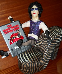 In anticipation of Halloween, Frank N. Furter demands you watch The Rocky Horror Picture Show (teekeek) Tags: halloween therockyhorrorpictureshow franknfurter timcurry franknfurterdoll