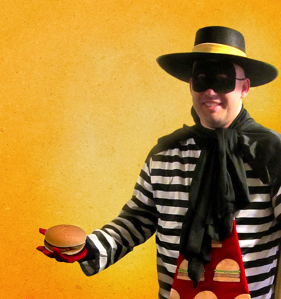 hamburglar halloween costume jar1978 tags white black costume mask tie mcdonalds cheeseburger hamburger