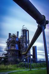 Gasworks Park Long Exposure (El jacapista) Tags: seattle park longexposure industry canon long exposure industrial pipe gas le 7d gasworks works 1740mm hdr gasworksparks canon7d