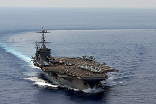 USS George Washington in the South China Sea.