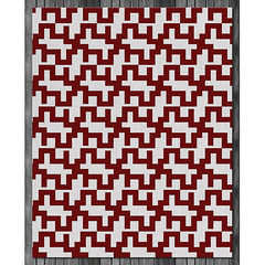 Maze Wool Rug in  Cayenne and Natural (on wood) (PURE Inspired Design) Tags: customfurniture organicfabric ecofriendlyfurniture woolrugs