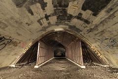 Girders under an arch (- Hob -) Tags: longexposure lightpainting underground arch girder culvert airraidshelter sooc 何後処理ん 无后处理