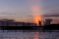 We Shall Overcome (Md. Rasedul Islam) Tags: life sunset sun silhouette river children hope ngc dhaka bangladesh sunray padma maowa