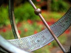 Centennial Sundial (atogdude) Tags: flowers sculpture garden time olympus sundial wellington romannumerals