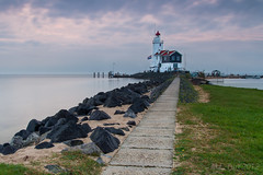 Lighthouse of Marken (Marcel Tuit) Tags: longexposure lighthouse holland me water canon landscape eos nederland thenetherlands 7d vuurtoren marken ijsselmeer landschap langesluitertijd paardvanmarken marceltuit