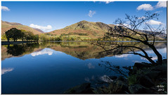 Buttermere reflections (Maria-H) Tags: uk autumn england mountain lake reflection nationalpark unitedkingdom lakedistrict panasonic explore cumbria buttermere 714 gh2 dmcgh2