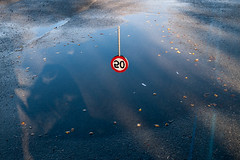No speeding in these waters (afloden) Tags: reflection water sign norway no h2o asphalt skilt vann troms refleksjon troms asfalt