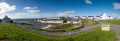Panorama Portnahaven (Ballygrant Boy) Tags: road blue houses sea sky panorama cloud green scotland nikon village argyll islay portnahaven 24120vr supershot d700