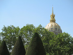 Dome of Les Invalides, seen from Rodin Museum, Paris (supe2009) Tags: trees vacation paris france gardens museum garden painting europe paintings canvas dome oil gilded sculptures rodin lesinvalides 2012 vacation2012