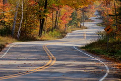 Zig Zag (Cole Chase Photography) Tags: autumn fall wisconsin canon october fallcolor fallfoliage doorcounty t3i curvyroad roadtonorthport