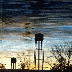 arizona sunset # 53 (The Antic Staatsoper) Tags: sunset arizona sky night stars watertower