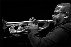 Terrence Blanchard (TheWalkinMan) Tags: portrait bw blackwhite trumpet jazz horn composer bop konzertfotos musicuan 2012rochesterinternationaljazzfestival nikonsunglassesscoredatthethriftstore