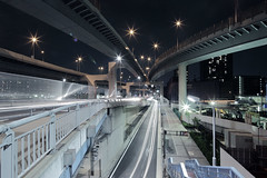 Shinonome Spread (spiraldelight) Tags: tokyo traffic junction  lighttrails jct  shinonome  eos5dmkii tse17mmf4l  shinonomejunction