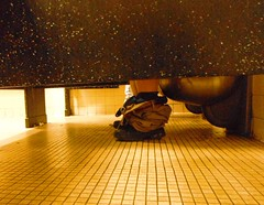 Sitting in the stall 37 (BESTWAY64) Tags: male bathroom stall toilet crapper pooping mensroom publicrestroom shitting steeltoilet