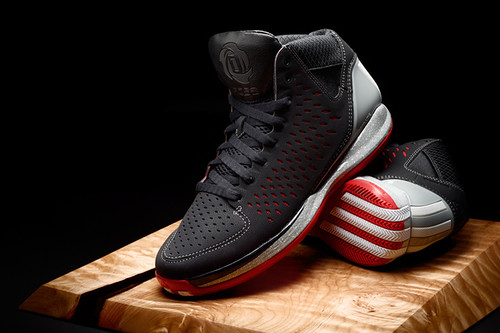adidas adiZero Rose 3 Away colorway  black nubuck red SPRINTWEB