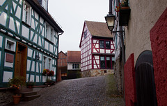 Architecture in Idstein, Germany (ChrisGoldNY) Tags: travel houses homes red architecture germany deutschland europa europe european forsale eu villages historic cobblestones viajes german posters albumcover alemania bookcover towns vacations bookcovers albumcovers deutsche gridskipper idstein deutscheland jaunted chrisgoldny chrisgoldberg chrisgoldphoto